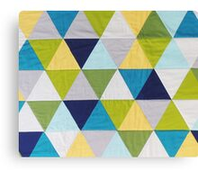 Triangle quilt Canvas Print