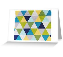 Triangle quilt Greeting Card
