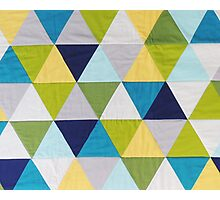Triangle quilt Photographic Print