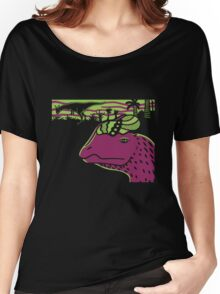 Dilophosaurus Duo - Green and Purple Women's Relaxed Fit T-Shirt