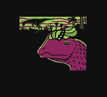 Dilophosaurus Duo - Green and Purple Unisex T-Shirt