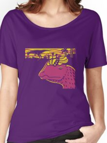 Dilophosaurus Duo - Yellow and Pink Women's Relaxed Fit T-Shirt