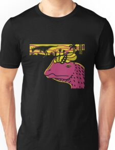 Dilophosaurus Duo - Yellow and Pink T-Shirt