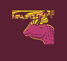 Dilophosaurus Duo - Yellow and Pink Unisex T-Shirt