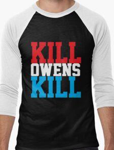Kill Owens Kill (Red/White/White) Men's Baseball ¾ T-Shirt