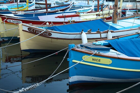 Old Boats in Nice Harbour by Jocelyn Pride