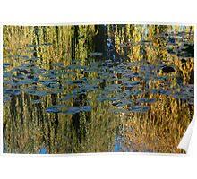Monet's Garden - Golden Light Poster