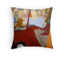 Second Saturday, 20th Street, Sacramento Throw Pillow