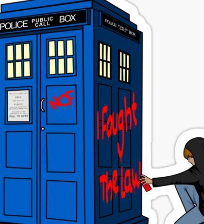 The Doctor Parked His Tardis Down Splott Sticker