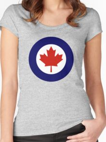 Royal Canadian Air Force - Roundel Women's Fitted Scoop T-Shirt