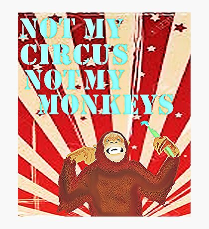Not my circus not my monkeys Photographic Print