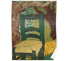 The Chair in the Garden by the Tree Poster
