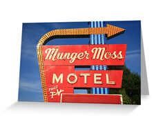 Route 66 - Munger Moss Motel Greeting Card