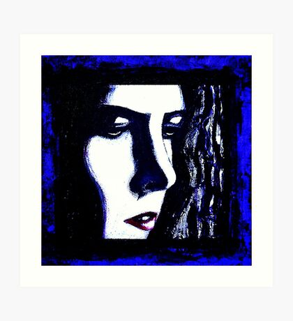 Serious Blue Art Print