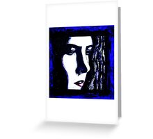 Serious Blue Greeting Card