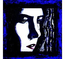 Serious Blue Photographic Print