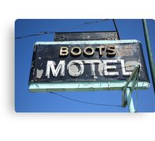 Route 66 - Boots Motel Canvas Print