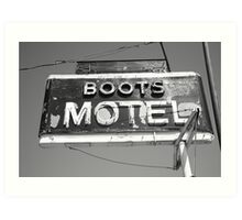 Route 66 - Boots Motel Art Print