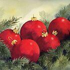 Christmas Baubles by artbyrachel