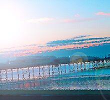 Sunrise in Orange and Blue Skies by Wickedrainbow