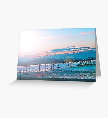 Sunrise in Orange and Blue Skies Greeting Card
