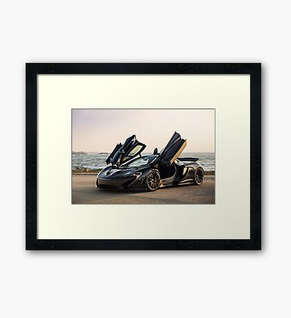 McLaren P1 Sitting Seaside Framed Print