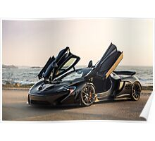 McLaren P1 Sitting Seaside Poster