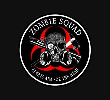 Biohazard Zombie Squad Always aim for the head Ring Patch outlined 2 Unisex T-Shirt