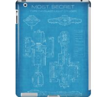 Top Secret Spaceship Blueprint iPad Case/Skin
