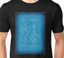 Top Secret Spaceship Blueprint Unisex T-Shirt