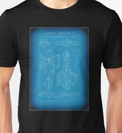 Top Secret Spaceship Blueprint Unisex T-Shirt