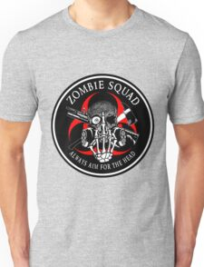 Biohazard Zombie Squad Always aim for the head F U Ring Patch outlined 2 Unisex T-Shirt