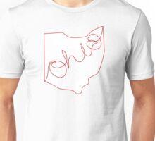 Handwritten Ohio (Scarlet) Unisex T-Shirt