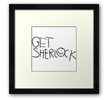 Get Sherl☺ck (Forward) Framed Print