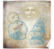 Vintage Sea Theme Poster