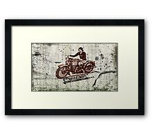 retro grunge cruisin' Framed Print