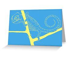 chameleon 3 Greeting Card