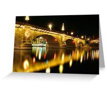 Christmas At The London Bridge Greeting Card