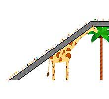 Giraffe Escalator  Photographic Print