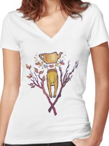 Greg's Emblem Women's Fitted V-Neck T-Shirt