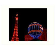 Paris in Vegas  Art Print