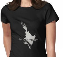 You are always here to me (black) II Womens Fitted T-Shirt