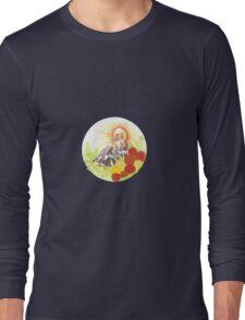 Woman In Rickshaw Long Sleeve T-Shirt