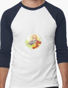 Woman In Rickshaw Men's Baseball ¾ T-Shirt