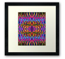 Time is but a psychedelic ripple in the fabric of existence Framed Print