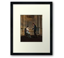 Regency Era Couple in Candlelit Ballroom Framed Print
