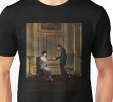 Regency Era Couple in Candlelit Ballroom Unisex T-Shirt