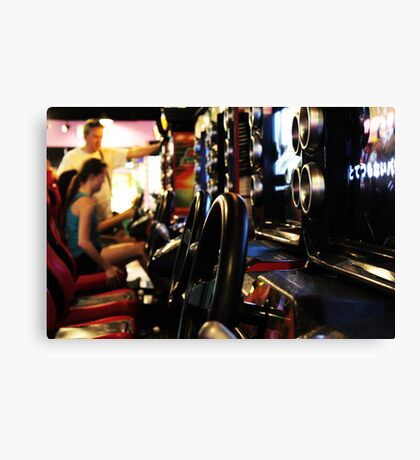 Burbank Arcade Racing Game Canvas Print