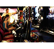 Burbank Arcade Racing Game Photographic Print