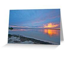 Sunset vista, Pumicestone Passage, Bribie Island Greeting Card